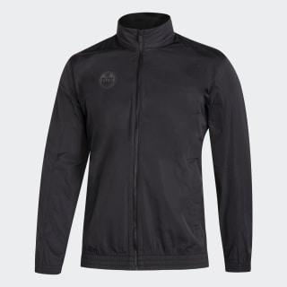 Oilers Tech Track Jacket Nhl-Eoi-504 / Black FR1578