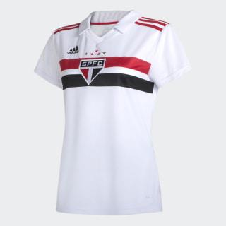 CAMISA SAO PAULO I FEMININA WHITE/RED/BLACK DZ5623