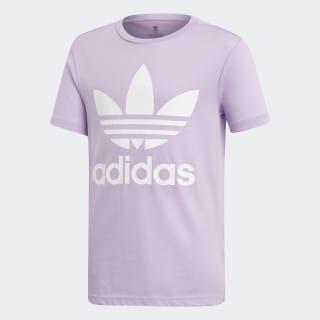 T-shirt Trefoil Purple Glow / White DV2908