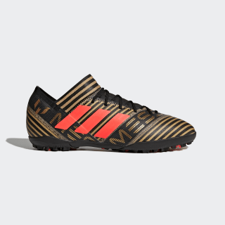 Tenis de Fútbol Nemeziz Tango 17.3 Césped Artificial Core Black / Solar Red / Tactile Gold Metallic CP9108