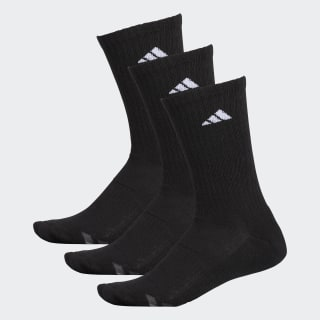Climalite Cushioned Crew Socks 3 Pairs Black / White / Light Onix H77457