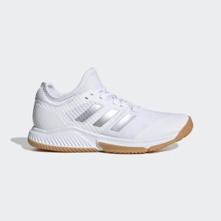Court Team Bounce Shoes Cloud White / Silver Metallic / Cloud White EH2602