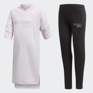 Комплект: футболка и леггинсы EQT white / aero pink s18 CV3507
