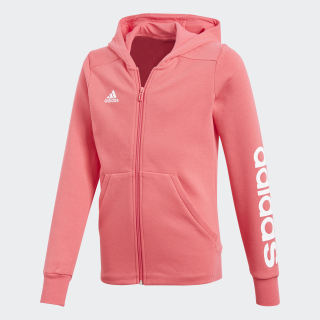 Essentials 3-Stripes Mid Hoodie Real Pink / White CF7289