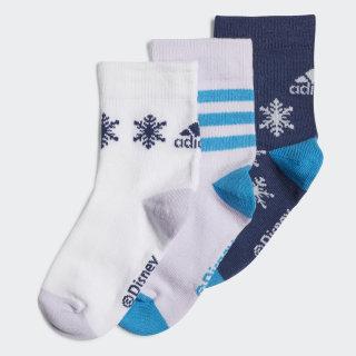 Frozen Crew Socks 3 Pairs Tech Indigo / White / Purple Tint FN0982