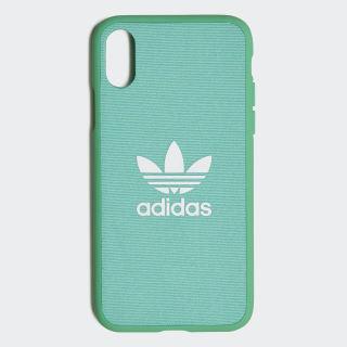 Coque moulée iPhone X Hi-Res Green / White CL4892