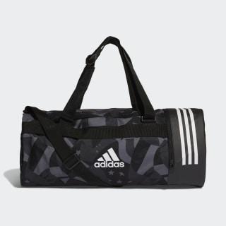 3-Stripes Convertible Graphic Duffel Bag Black / White / White DT8653