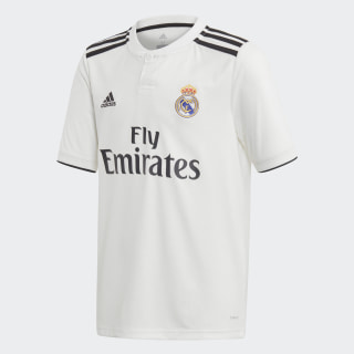 Réplica Camiseta Local Real Madrid Core White / Black CG0554