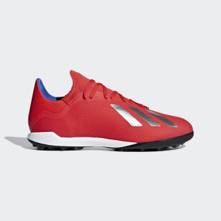 X Tango 18.3 Turf Shoes Active Red / Silver Metallic / Bold Blue BB9399
