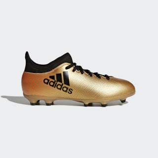 Tenis de Fútbol X 17.3 Terreno Firme Tactile Gold Metallic / Core Black / Solar Red CP8990