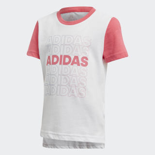 LG COT TEE White / Real Pink / Real Pink EH4082