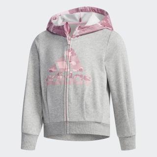 Chaqueta LG FT HOODY medium grey heather / true pink DW5927