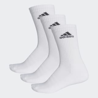3-Stripes Performance Crew Socks White / White / Black AA2297