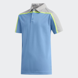 Heathered Colorblock Polo Shirt Light Blue FI8714