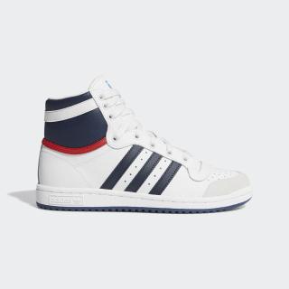 Top Ten Hi Shoes Core White / Dark Blue / Collegiate Red D74481
