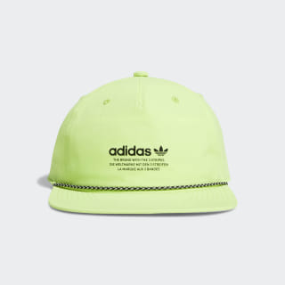 Deconstructed Rope Strap-Back Relaxed Hat Bright Yellow CK5004