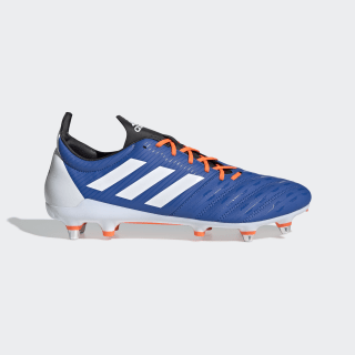 Malice Soft Ground Boots Blue / Cloud White / Solar Orange F35815