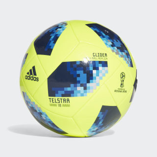 Balón Glider Copa Mundial de la FIFA 2018 SOLAR YELLOW/SOLAR BLUE2 S14/BRIGHT ROYAL CE8097