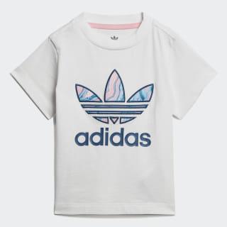 Camiseta Marble Trefoil White / Multicolor DV2323