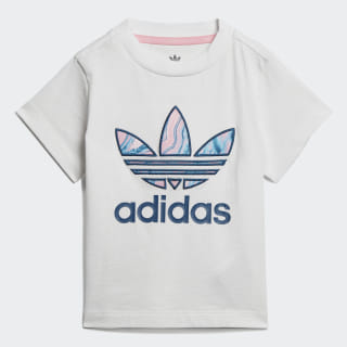 Camiseta Trefoil Marmorizada White / Multicolor DV2323
