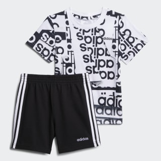Print Tee and Shorts Set Black/Charcoal CM6672