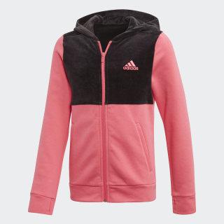 Mikina skapucňou ID Real Pink / Black ED4657