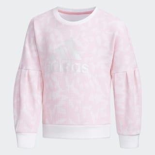 Polerón Cuello Redondo White / Light Pink EH4068
