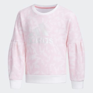 Sudadera Crewneck White / Light Pink EH4068
