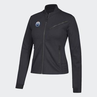 Oilers Moto Jacket Nhl-Eoi-5bz / Black DP8138
