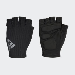 hand.schuh Race Gloves Black / White / Reflective Silver AZ6584