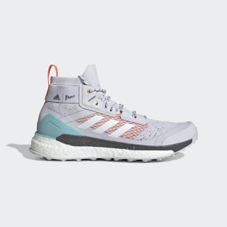 Scarpe da hiking Terrex Free Hiker Parley Dash Grey / Cloud White / True Orange EG5397