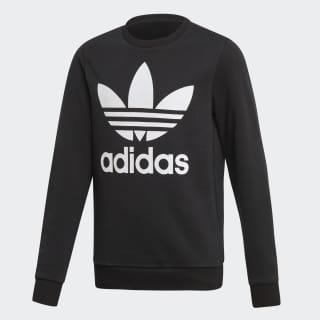 Trefoil Crew Sweatshirt Black / White ED7797