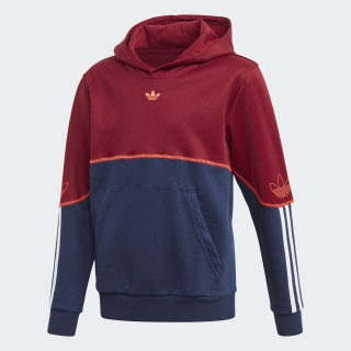 Outline Hoodie Collegiate Burgundy / Night Indigo / White FM4471