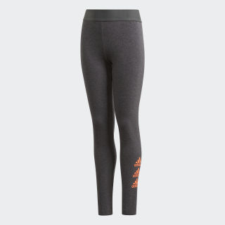Must Haves Badge of Sport Tights Dark Grey Heather / Signal Coral FP8932
