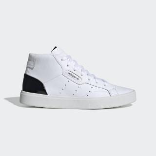adidas Sleek Mid Shoes Cloud White / Cloud White / Core Black EF0701