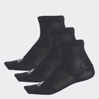 Meia Liner Thin - 3 Pares Black / Black / Black AA2312