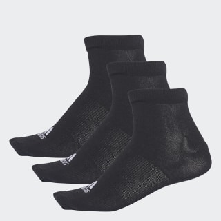 Performance No-Show Thin Socks 3 Pairs Black / Black / Black AA2312