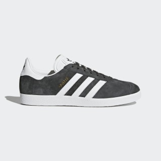 Gazelle Shoes Dark Grey Heather / White / Gold Metallic BB5480