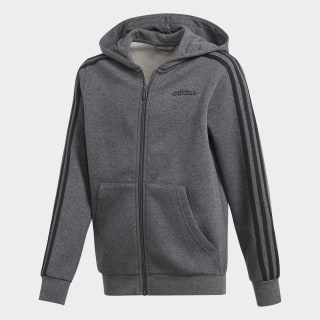 Veste à capuche à 3 bandes Essentials Dark Grey Heather / Black DX2474