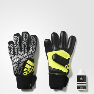 ACE Pro Goalkeeper Gloves Black / Silver Metallic / Solar Yellow AZ3117