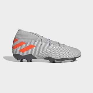 Calzado de Fútbol Nemeziz 19.3 Terreno Firme Grey Two / Solar Orange / Chalk White EF8287