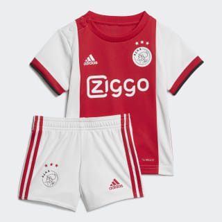 Ajax Amsterdam Home Baby Kit Bold Red / White / Black EI7369