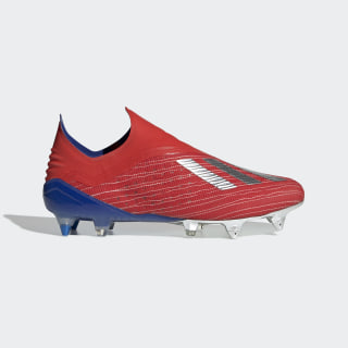 Botines de Fútbol X 18+ Terreno Suave Active Red / Silver Metallic / Bold Blue BB9343