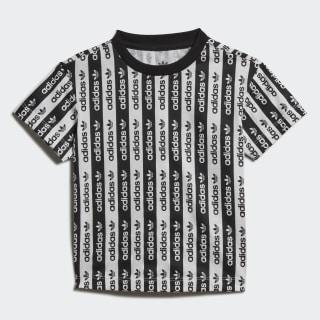 T-shirt Allover Print White / Black FM5498