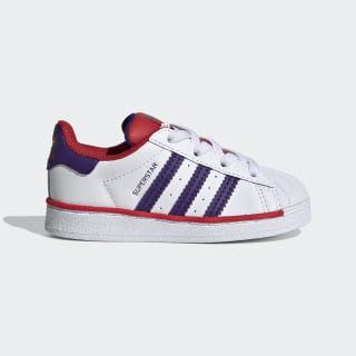 Superstar Schuh Cloud White / Collegiate Purple / Scarlet FV3661