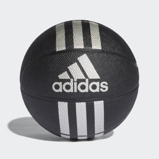 Palla da basket Mini 3-Stripes Black / Silver Met. X53045