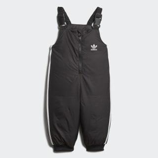 Утепленный комбинезон Trefoil Real black / medium grey heather / white D96080