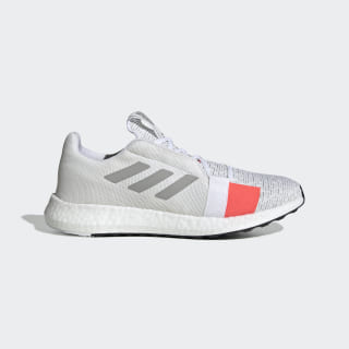 Zapatilla Senseboost Go Core White / Grey Two / Solar Red G27403
