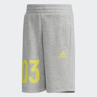 Bermuda Shorts Medium Grey Heather / Shock Yellow DW4120