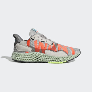 Chaussure ZX 4000 4D Grey One / Solar Red / Bright Cyan EF9624